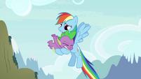 Rainbow Dash catches Spike S4E25