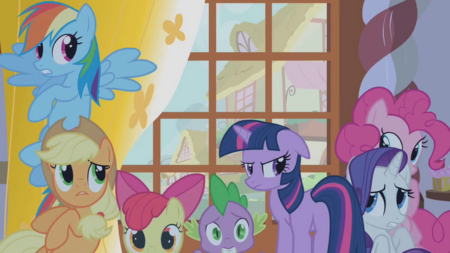 File:Twilight's friends hide from Zecora's gaze S1E09.png
