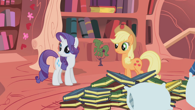 File:Applejack and Rarity staring offscreen S1E8.png
