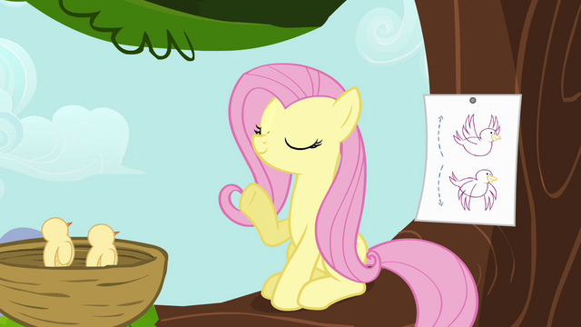 File:Fluttershy instructing birds S4E04.png