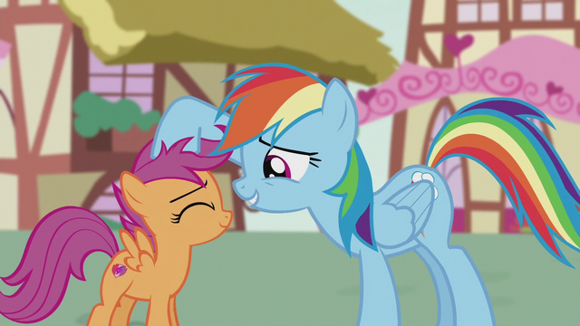 File:Rainbow Dash ruffling Scootaloo's mane S5E18.png