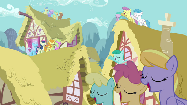 File:Ponies singing on roofs S3E13.png