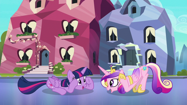 "File:Twilight and Cadance ""ladybugs awake"" S6E16.png"