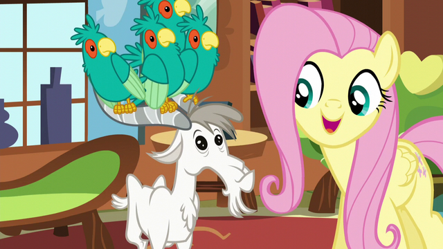 File:Fluttershy singing next to a goat S5E3.png