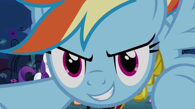 File:Rainbow Dash prepares to attack S4E02.png