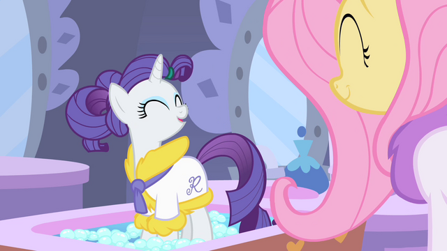 File:Rarity and Fluttershy happy S1E20.png