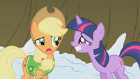 Twilight begs Applejack S1E11