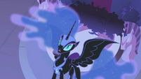 Nightmare Moon sees the rainbow attack S1E2