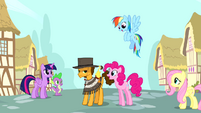Pinkie Pie and friends with Cheese Sandwich S4E12