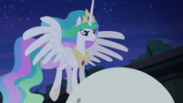 Princess Celestia at top of orrery S4E02