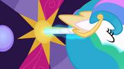 Princess Celestia uses her horn as a key S02E01.png