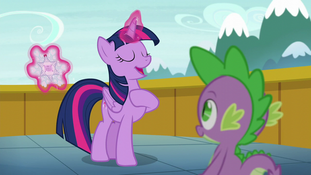 "File:Twilight Sparkle ""I'm an aunt!"" S6E1.png"