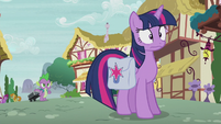 Twilight Sparkle trembling with fear S5E25
