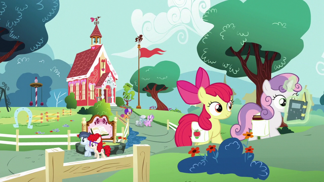 File:Foals leaving the Schoolhouse S6E14.png