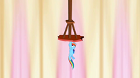 Rainbow Dash holding up column 1 S2E14