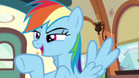 "Rainbow ""the victorious Ponyville buckball team!"" S6E18"