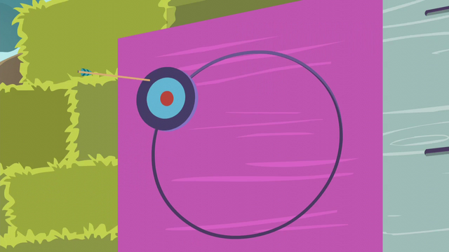 File:Applejack's arrow hits the outer ring EG3.png