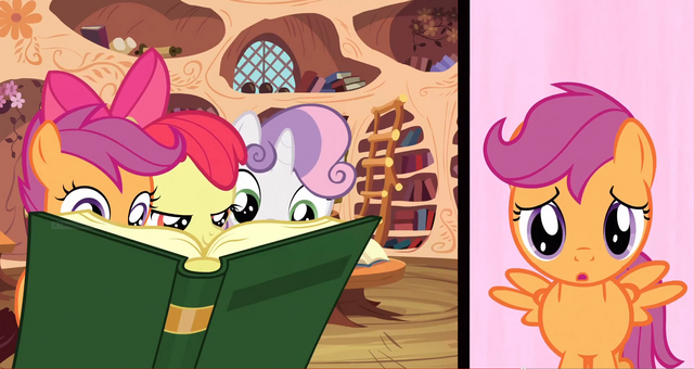 File:CMC reading a book S3E4.png