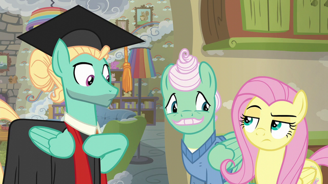 File:Fluttershy gives Zephyr the unamused eye again S6E11.png