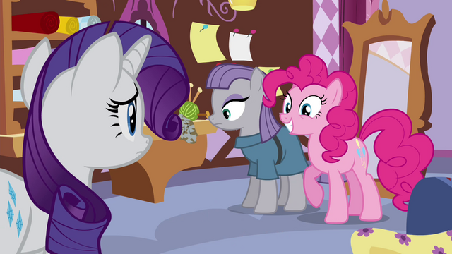File:Pinkie Pie smiling while standing beside Maud S4E18.png