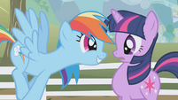 "Rainbow Dash ""you gotta take me!"" S1E03"
