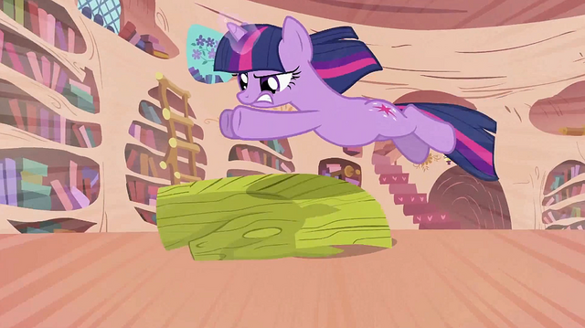 File:Twilight leaping over the bust S2E02.png
