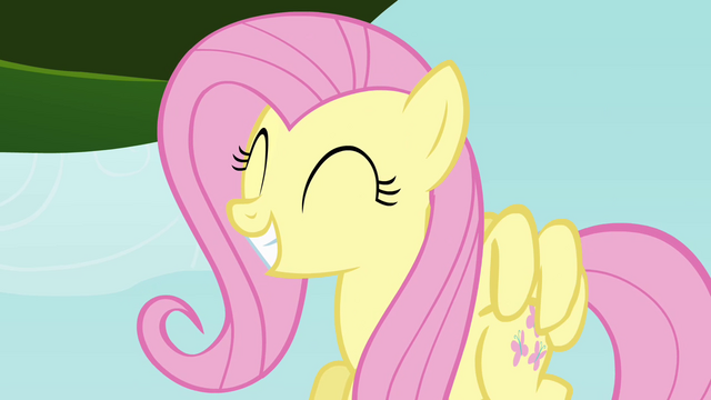 File:Fluttershy smiling at chicks S4E04.png