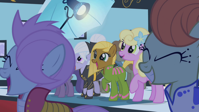 File:Ponies cheering for Fluttershy S1E20.png