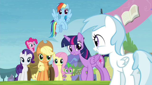 File:Cotton Cloudy walks up to Mane 6 S4E22.png