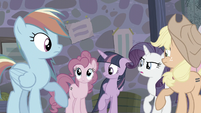 Other main ponies look at Pinkie S5E02