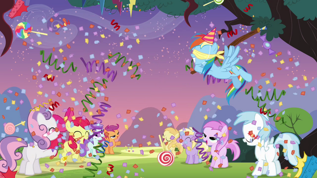 File:Rainbow hitting the pinata S4E12.png