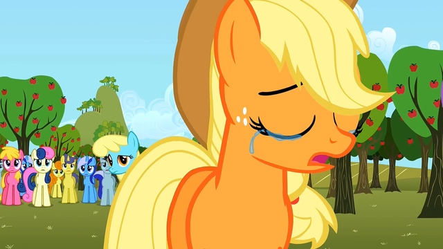 File:Applejack tears S02E15.png
