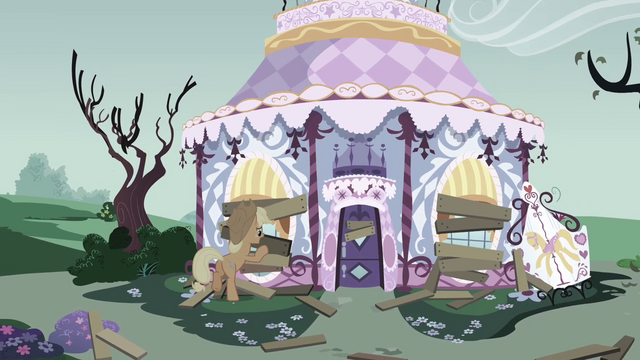 File:Applejack boarding up Carousel Boutique S03E13.png