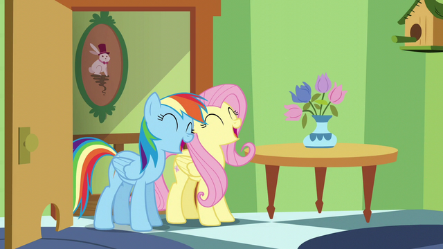 File:Fluttershy and Rainbow continue to sing S6E11.png