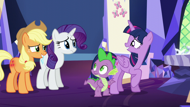 File:Twilight smiles at her friends embarrassed S5E16.png