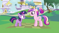 Young Cadance with filly Twilight S2E25