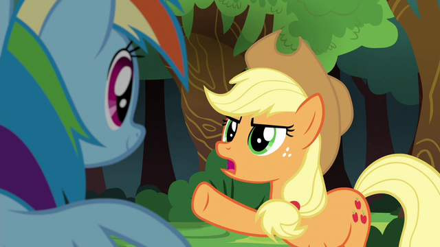 """File:Applejack """"their team can beat Ponyville"""" S6E18.png"""
