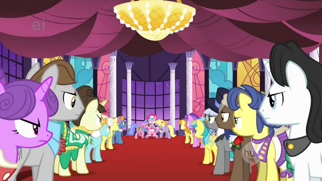 File:Ponies glaring at Pinkie S1E26.png