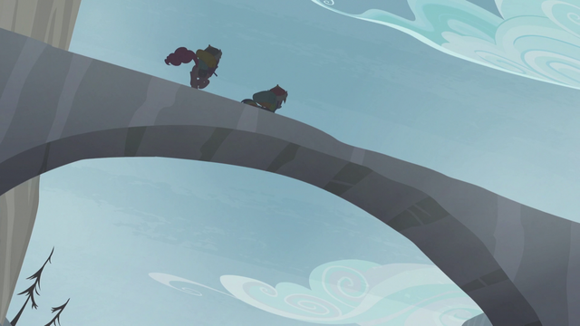 File:Pinkie and Rainbow traveling through a bridge S5E8.png