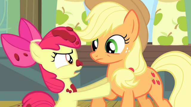 "File:Apple Bloom ""I'm not a baby!"" S4E17.png"