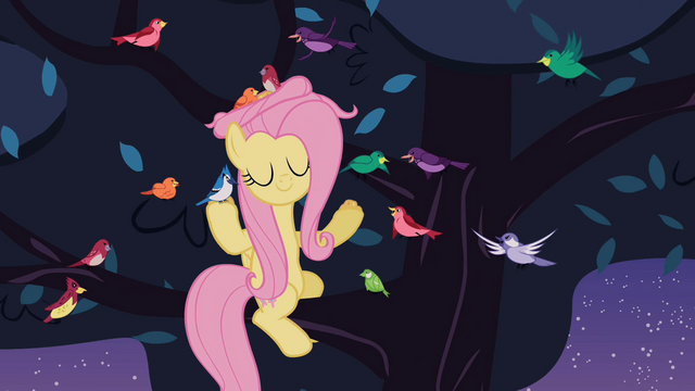 File:Fluttershy with birds S2E9.png
