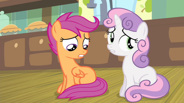 File:Sweetie and Scootaloo worried S4E17.png