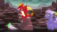 """Garble sits on the """"rock"""" S6E5"""