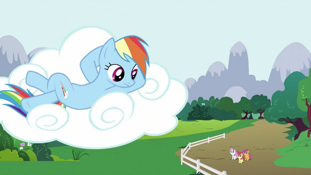 File:Rainbow Dash looking down S2E23.png