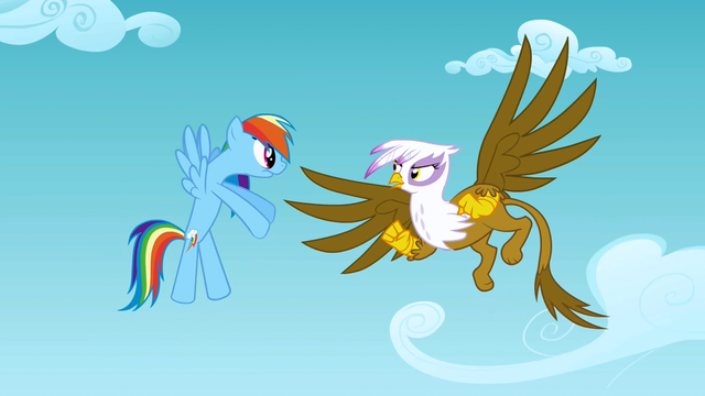 File:Rainbow Dash and Gilda argue S1E5.png