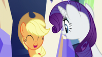 Applejack and Rarity impressed S6E12