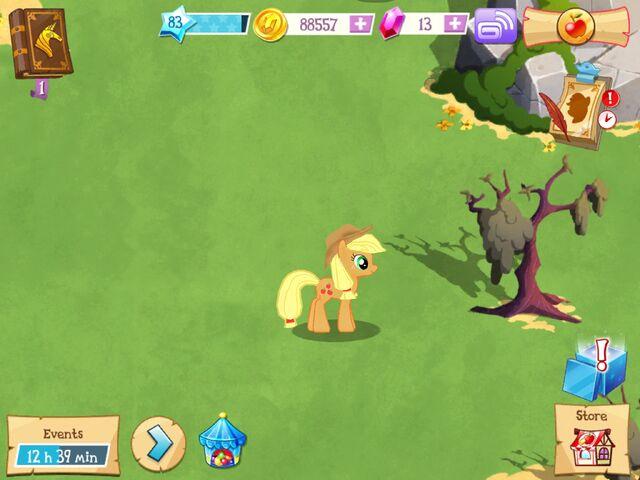 File:Applejack idle MLP mobile game.jpg