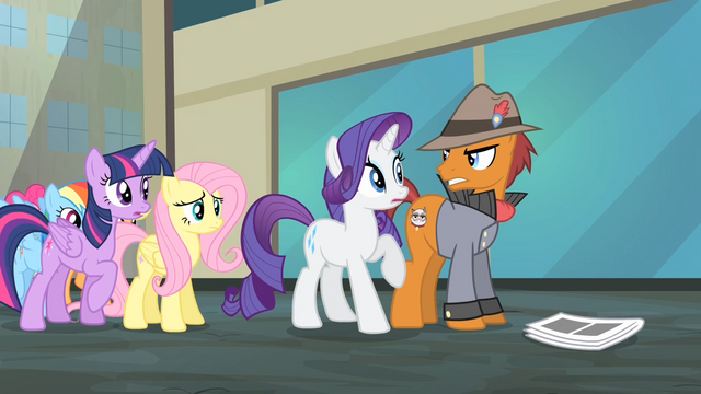 File:Pony with Grumpy Cat cutie mark looking angrily at Rarity S4E08.png