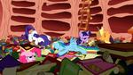 Rainbow crashing into Twilight's library S1E16