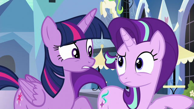 File:Twilight Sparkle and Starlight Glimmer confused S6E16.png